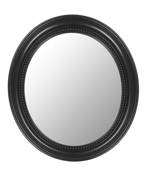 Wall mirror oval bath room ornaments framework black Baroque antique floor BHP B991486-4 – Bild 1