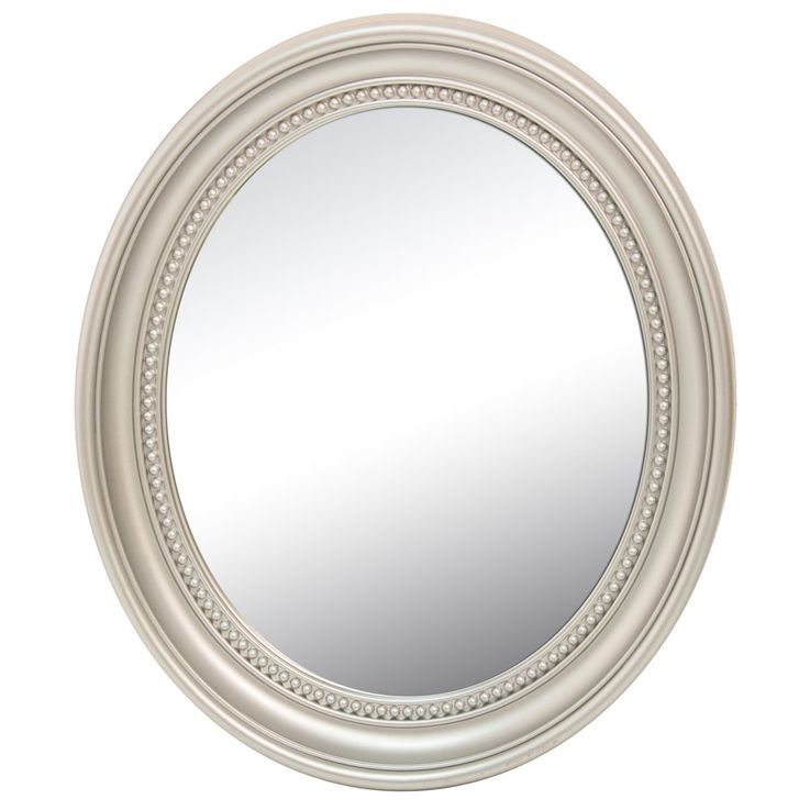 Design wall mirror bathing guest room ornaments frame oval baroque antique silver BHP B991486-24 – Bild 1