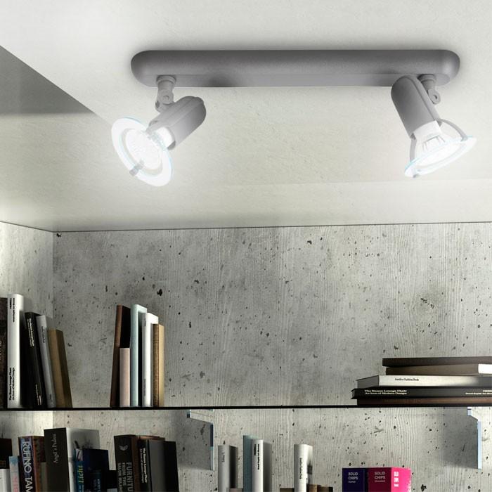 Éclairage plafonnier luminaire plafond lampe spots gris mobiles couloir chambre – Bild 3