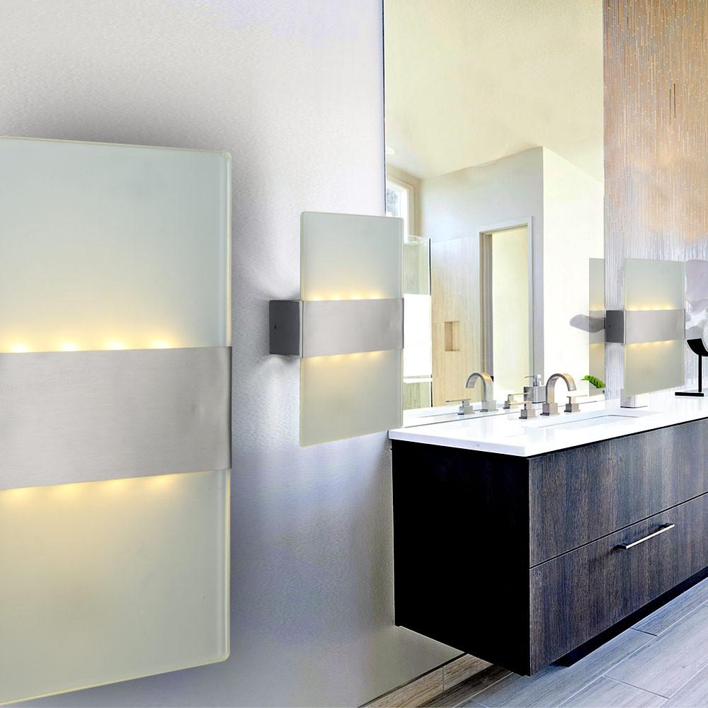 2er set elegante aussen lampen mauer beleuchtung led wand leuchten garagen alu ebay. Black Bedroom Furniture Sets. Home Design Ideas