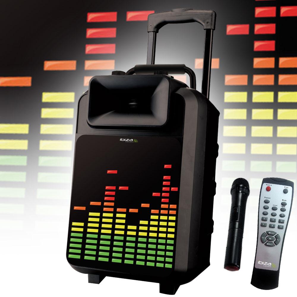 LED Mobile Musikanlage mit USB/SD und Bluetooth inkl. Mikro – Bild 2