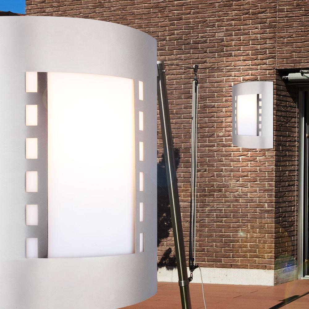 2er set led wand spot lampe edelstahl leuchte beleuchtung siebenbach. Black Bedroom Furniture Sets. Home Design Ideas