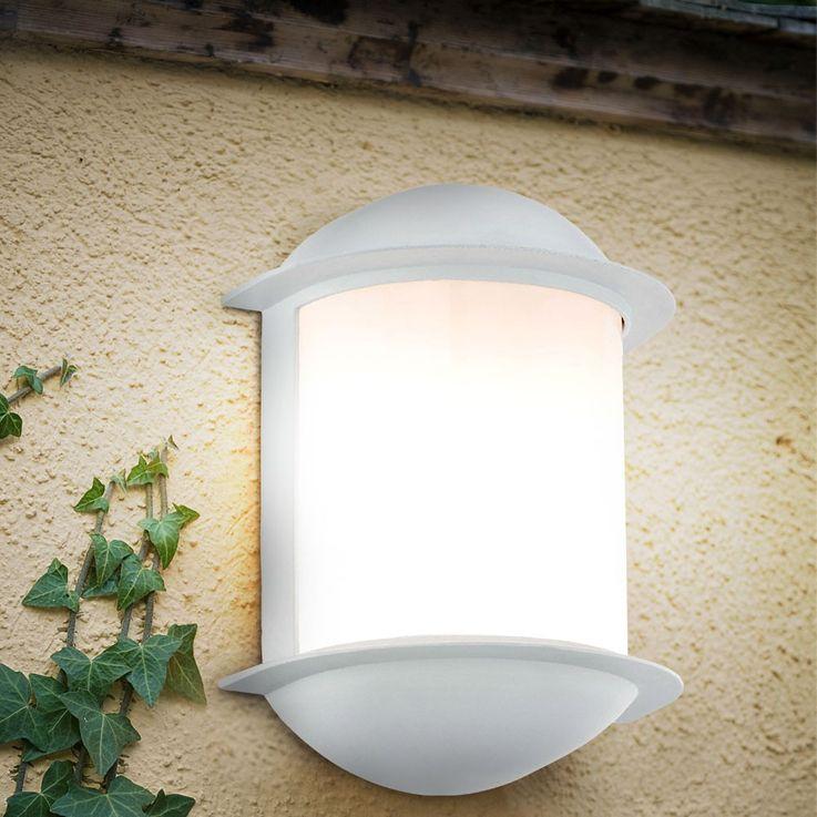 7 Watt LED Wand Strahler Leuchte Garten Balkon Lampe Aluguss weiß 1-flammig EEK A+ Eglo 78058 – Bild 5
