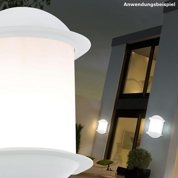 7 Watt LED Wand Strahler Leuchte Garten Balkon Lampe Aluguss weiß 1-flammig EEK A+ Eglo 78058 – Bild 3