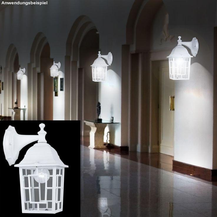 Applique extérieure luminaire mural jardin éclairage verre terrasse acier blanc – Bild 2