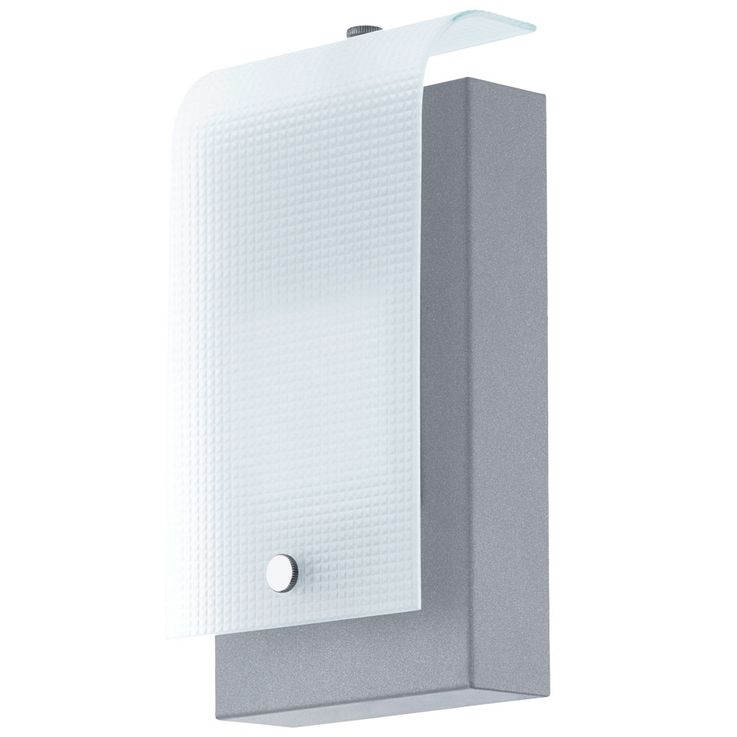 Luxus LED Außen Wand Lampe 3,7 Watt Metall silber Glas Balkon Terrassen Leuchte Eglo 78136 – Bild 1