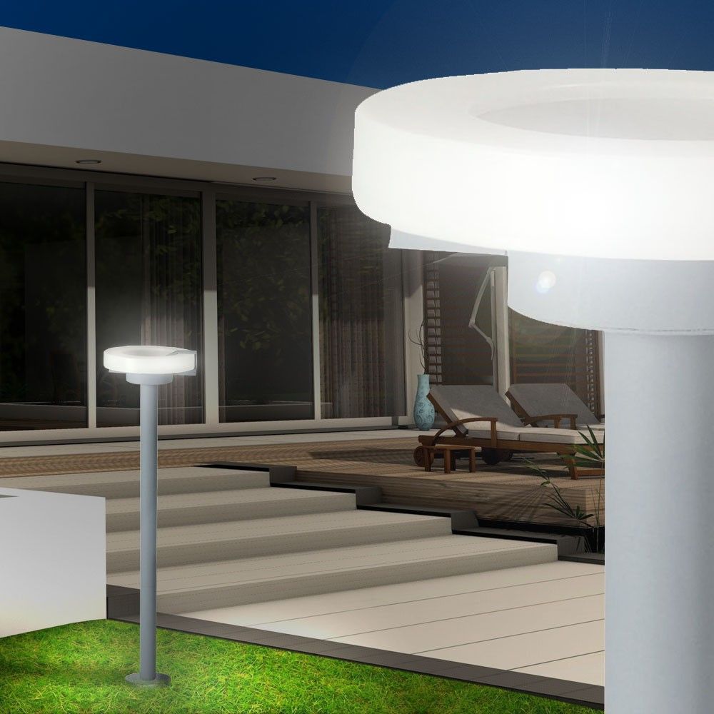Eclairage De Terrasse Sur Pied lampadaire gris luminaire sur pied jardin terrasse espace extérieur  éclairage