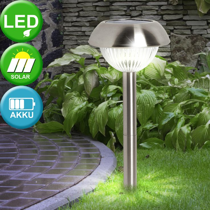 LED solar lamp Earth skewer stainless steel lighting plug-in lamp outdoor light Eglo 86527 – Bild 2