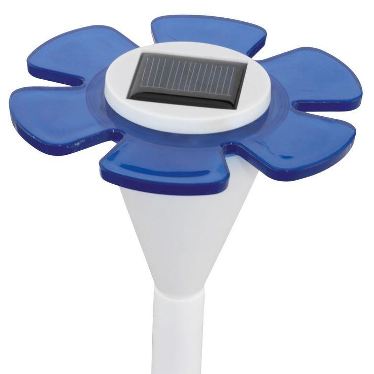 Lampe solaire LED fleur luminaire extérieur bleu borne Á piquer jardin terrasse – Bild 5