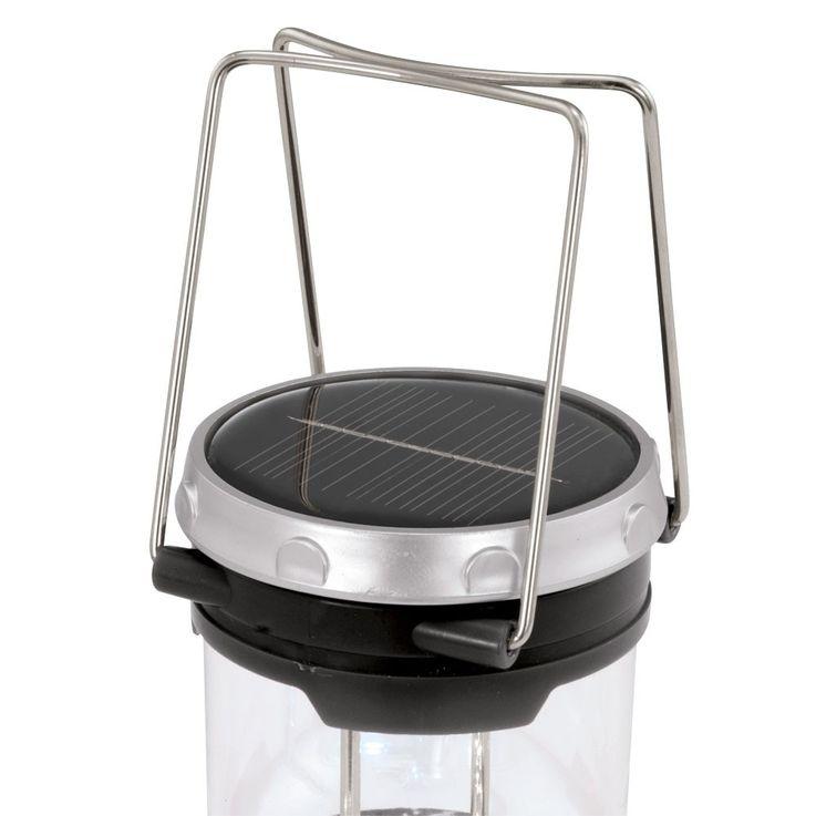 Lampe solaire DEL luminaire camping lanterne accu noir jardin espace extérieur – Bild 4
