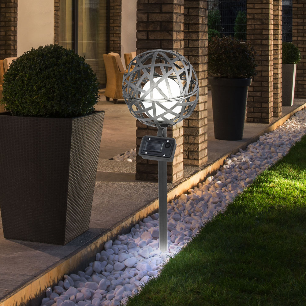 Led laterne kugel au en beleuchtung weg lampe solar for Laterne terrasse