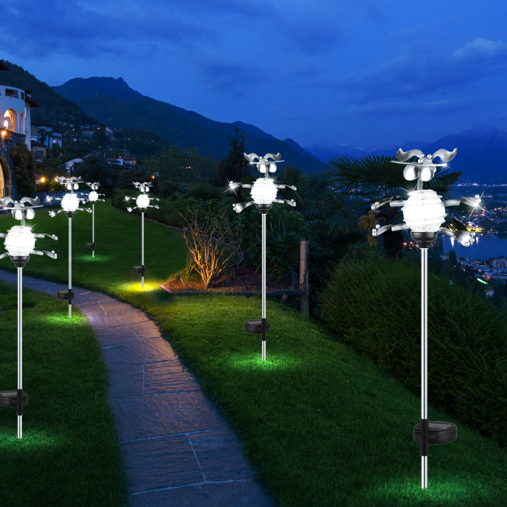 Outdoor Solar Lights In Ground: LED Solar Light With Practical Ground Spike Lamps