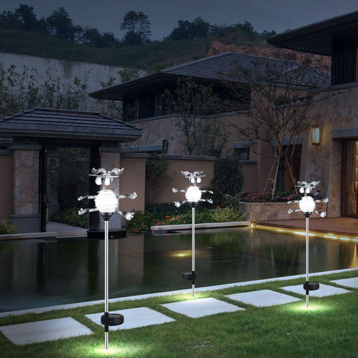 LED Steck Leuchte Solar Hund Kugel Lampe Garten Dekoration Beleuchtung Eglo 47734 – Bild 3