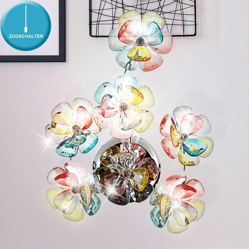 rgb led wandlampe im bl ten design mit zugschalter. Black Bedroom Furniture Sets. Home Design Ideas