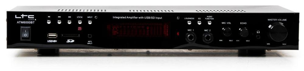 PA Anlage Boxen Bluetooth Verstärker 2x Mikrofon DJ-Karaoke – Bild 3