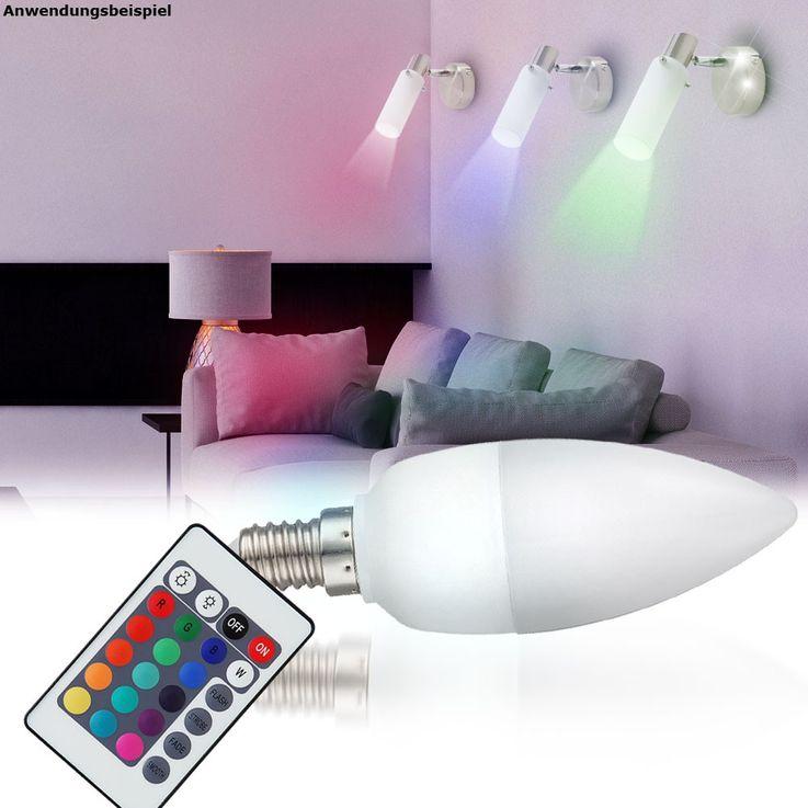 3,5W E14 RGB LED Leuchtmittel mit Fernbedienung – Bild 2