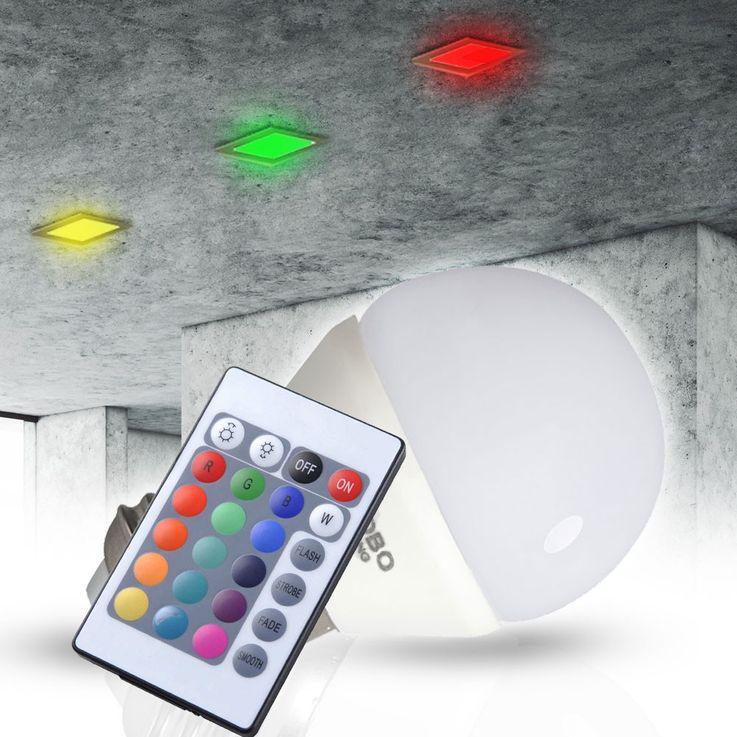 3,5 Watt RGB LED Leuchtmittel E27 Farbwechsel 200 Lumen 3000 Kelvin Globo 106753 – Bild 2
