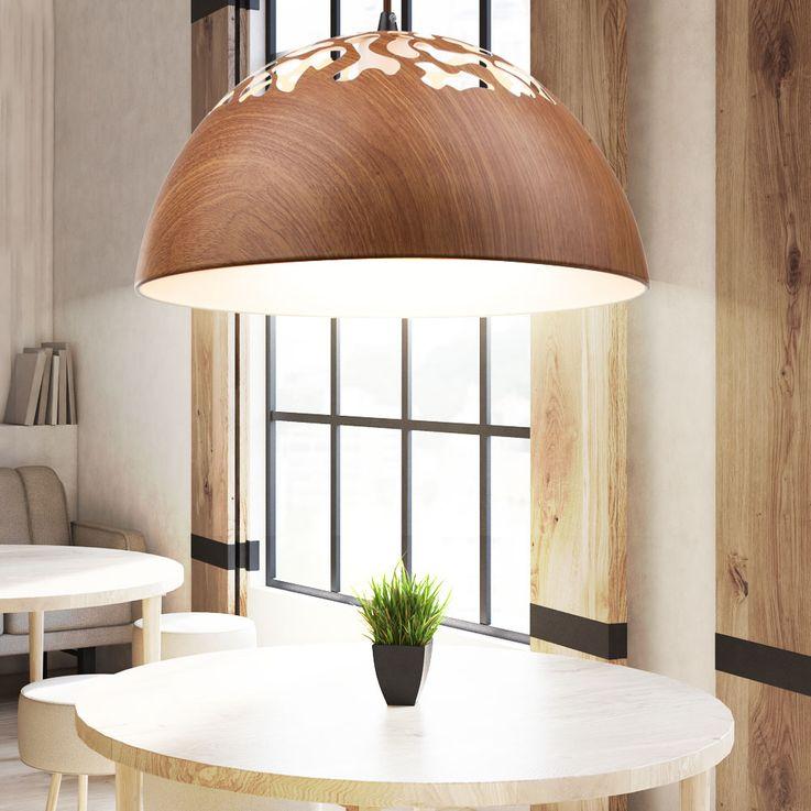 Suspension lustre couleur du bois luminaire cuisine éclairage salle Á manger – Bild 2