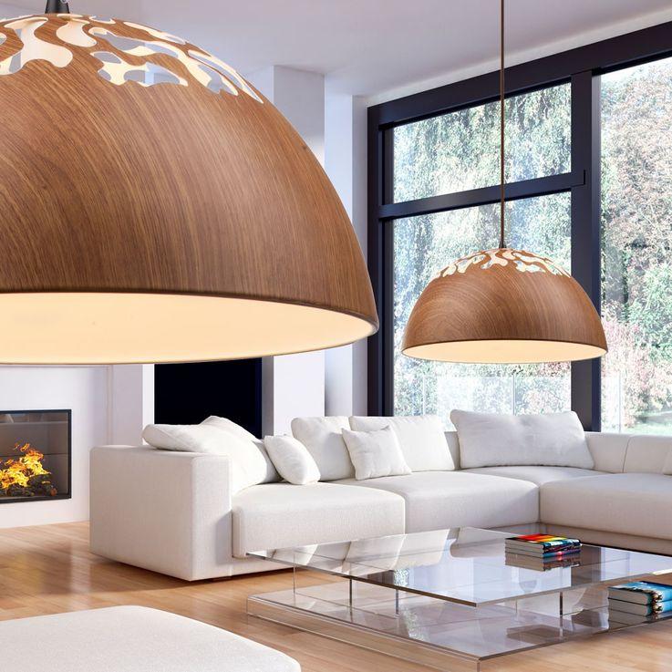 Cover lamp wood pendant lamp round dining room lighting Globo 15153 – Bild 4