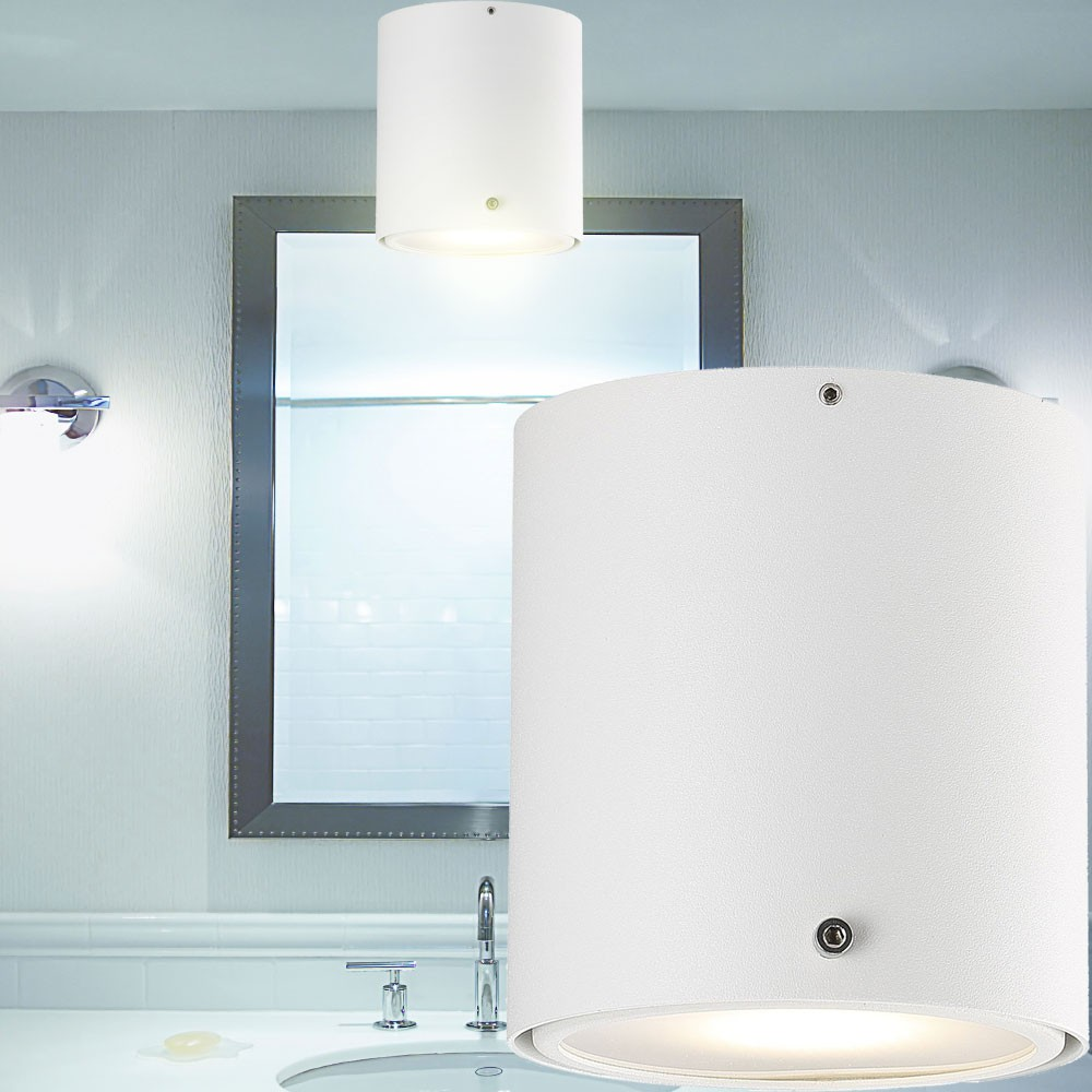 plafonnier del luminaire plafond lampe led ip44 blanc salle de bains clairage ebay. Black Bedroom Furniture Sets. Home Design Ideas