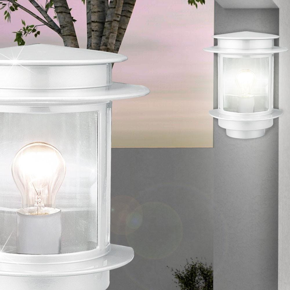 au en wand lampe fassaden haus t r leuchte garten terrassen beleuchtung alu wei ebay. Black Bedroom Furniture Sets. Home Design Ideas