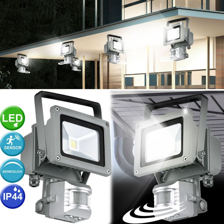 10 watt LED Bau spotlights floodlights exterior IP44 motion detector lamp spot mobile EGLO 93476 – Bild 5