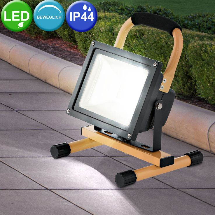 20 Watt LED outdoor stand stand portable luminaire IP44 construction Spotlight floodlights EGLO 93479 – Bild 2