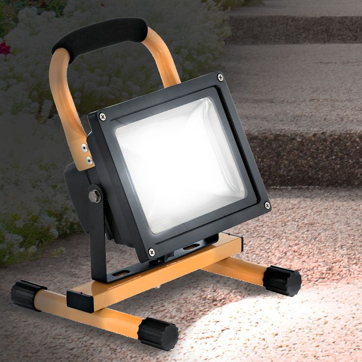 20 Watt LED outdoor stand stand portable luminaire IP44 construction Spotlight floodlights EGLO 93479 – Bild 3