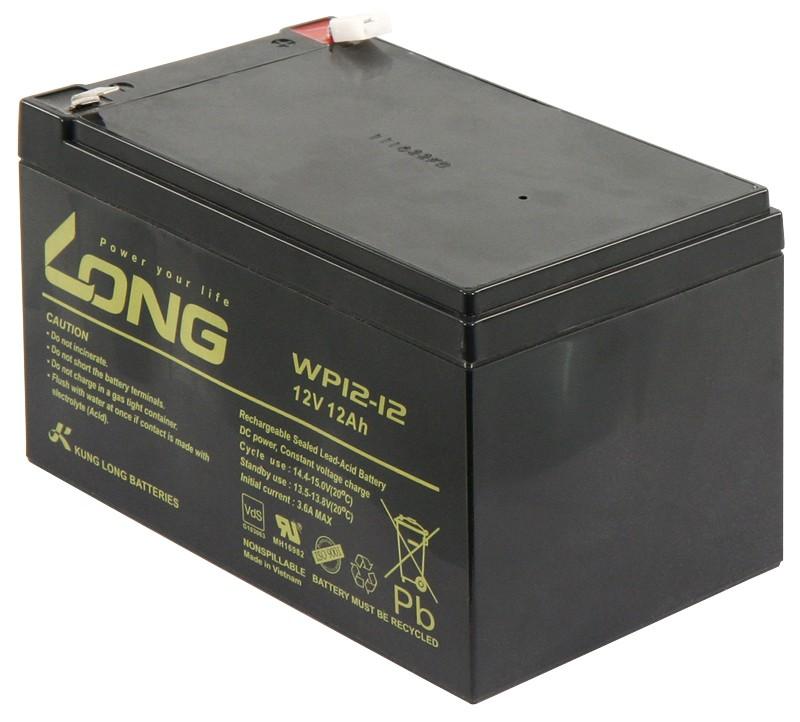 Bleiakku KUNG LONG WP12-12 12 V/12 Ah VdS 151x99x100 mm 427 kg
