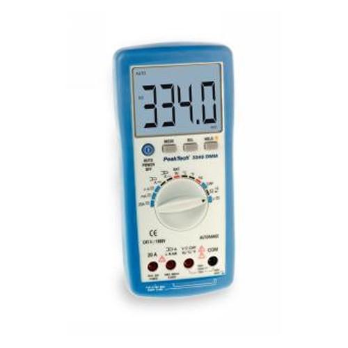 Digital-Multimeter PeakTech 3340 39 mm Jumbo-Display automatische Messbereichswahl