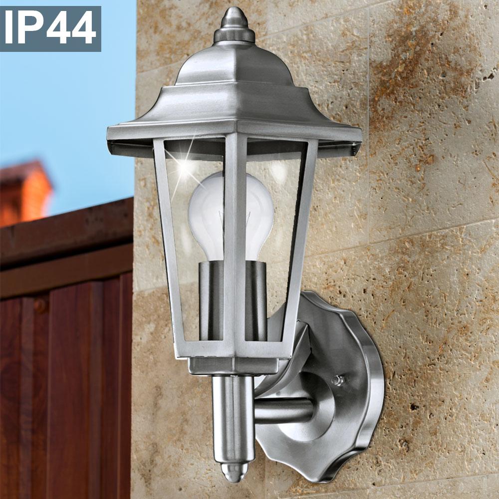 7W LED EDELSTAHL Design Außen Wand Lampe IP44 Veranda Balkon Garage Living-XXL