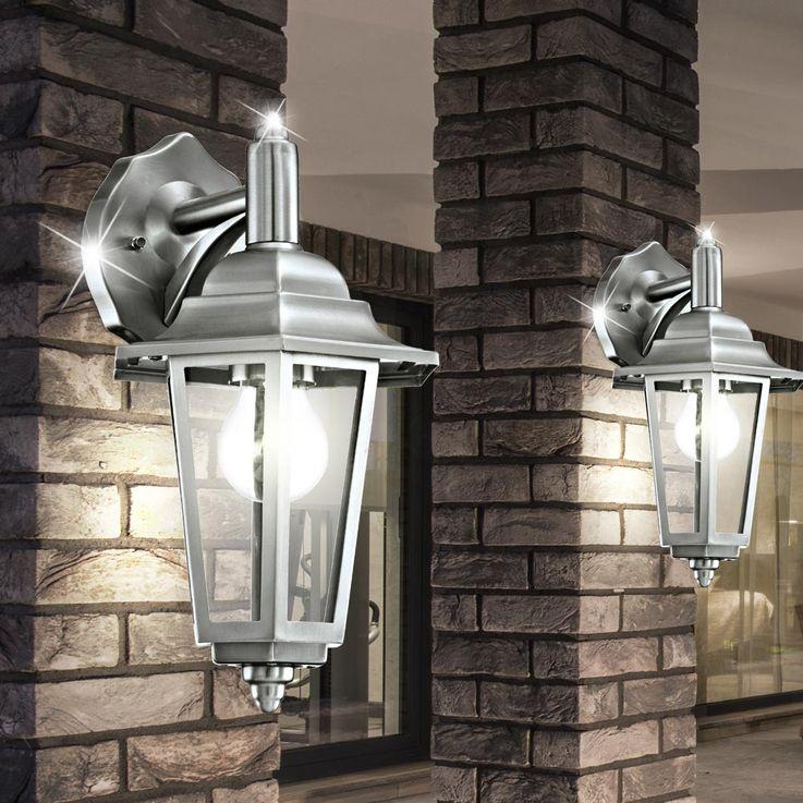 Applique acier inoxydable luminaire mural lanterne façade extérieur jardin IP44 – Bild 5