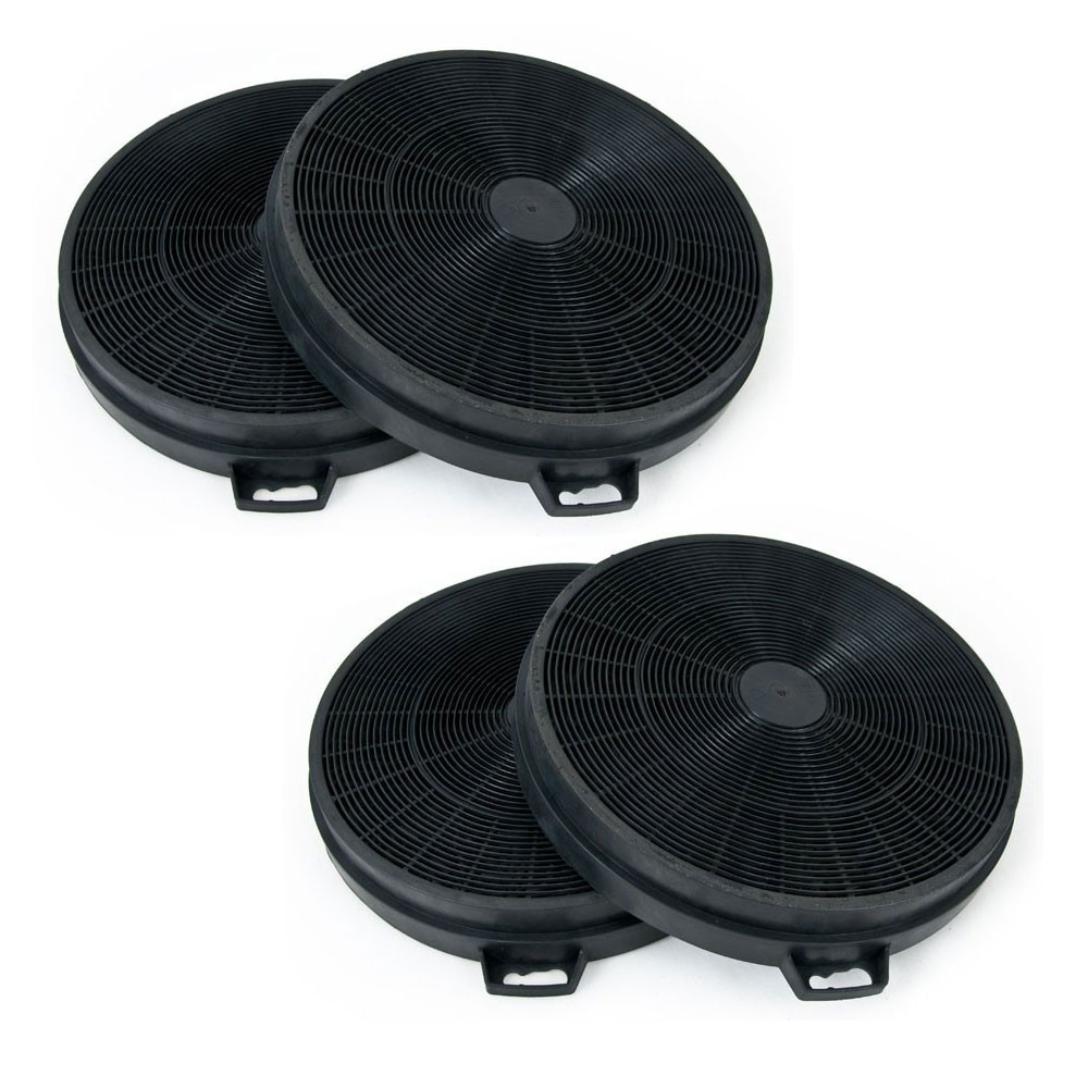 4 active charcoal filters for cooker hoods 2 x pair