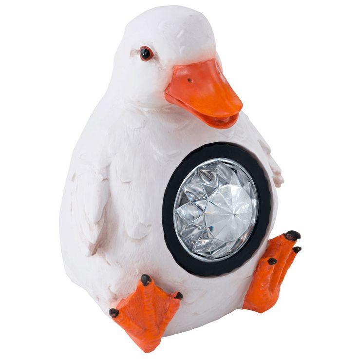 LED Solar Deko Außen Steh Stand Lampe Leuchte Design Ente EGLO 47857 – Bild 1