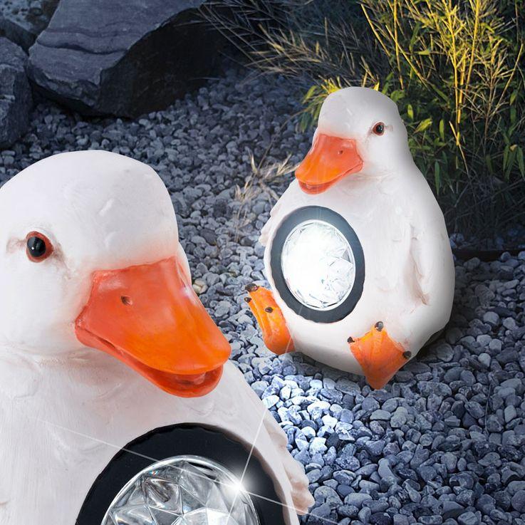 LED Solar Deko Außen Steh Stand Lampe Leuchte Design Ente EGLO 47857 – Bild 2