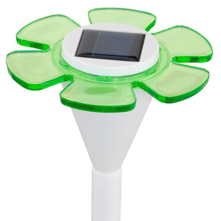 2er Set Elegante LED Solarleuchten im floralen Design – Bild 5