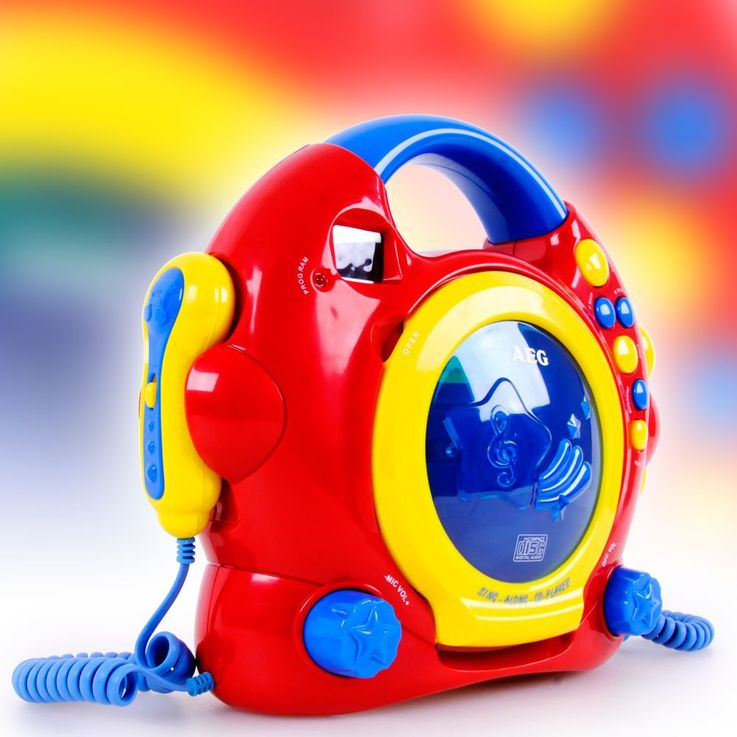 Colorful children room karaoke music system two microphones in the set including headphones – Bild 8
