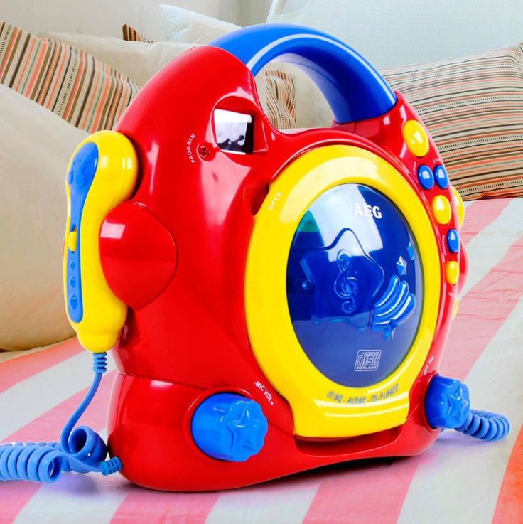 Colorful children room karaoke music system two microphones in the set including headphones – Bild 7