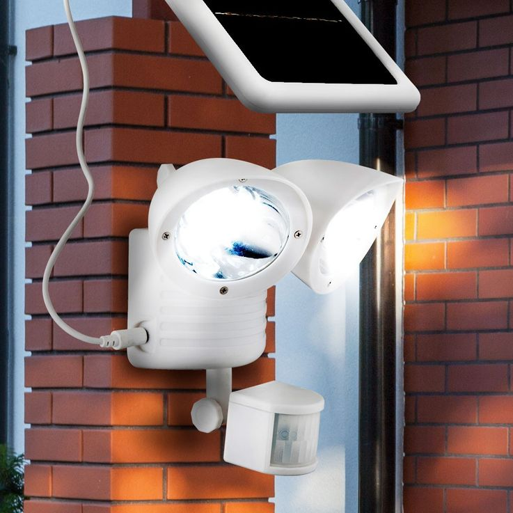 LED solar outdoor facades garden lamp adjustable sensor white 2 flame battery Globo 3723S – Bild 4