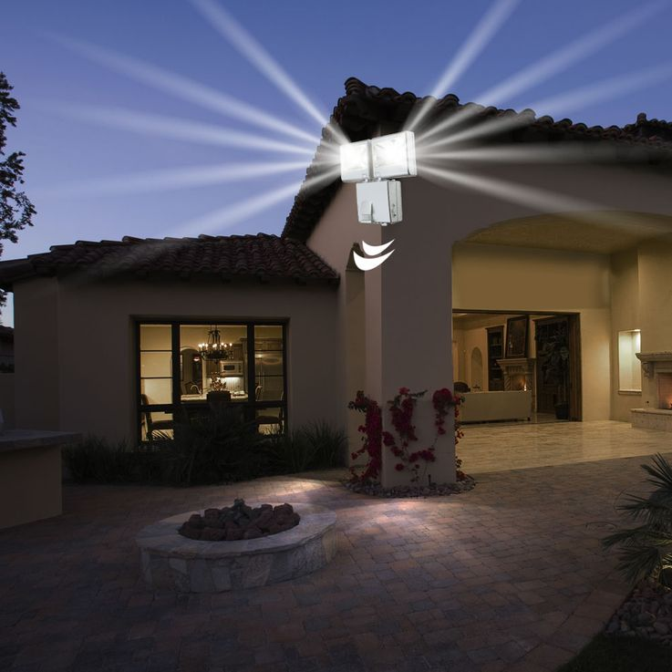 LED outdoor Wall lamp spots moving spotlights floodlights IP44 battery-operated motion detector Globo 3724 S – Bild 2