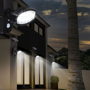 LED solar outdoor light motion senor wall spotlights driveway lighting Globo 374025S – Bild 6