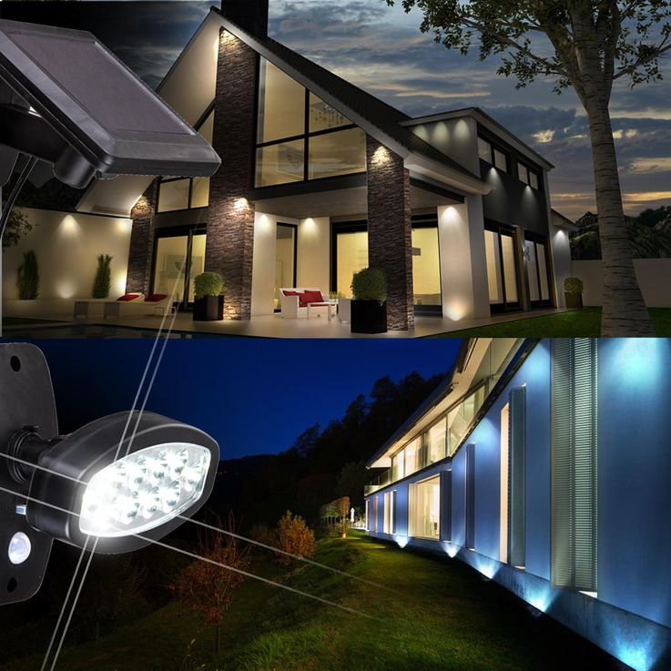 LED solar outdoor light motion senor wall spotlights driveway lighting Globo 374025S – Bild 8