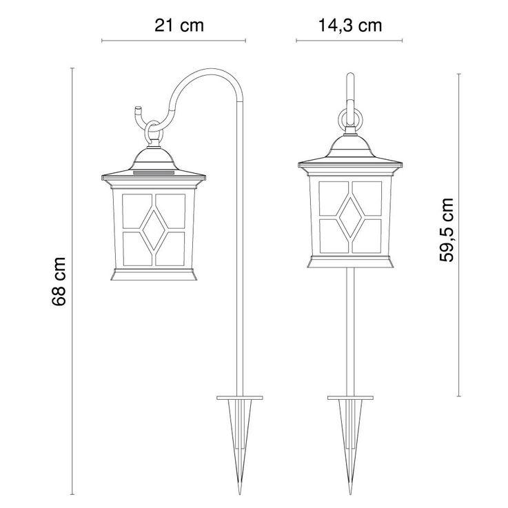 2er Set LED Außenlampen zum Stellen oder Hängen mit Erdspieß – Bild 11