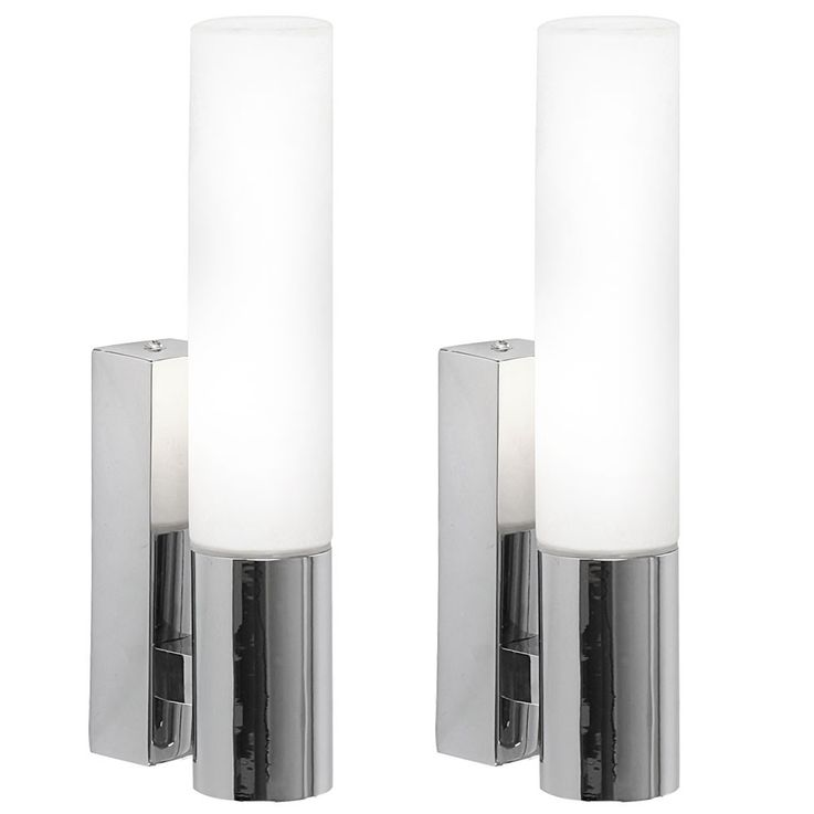 Set of 2 chrome-plated wall lighting in a sophisticated design – Bild 1