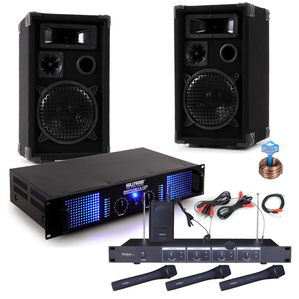 Karaoke Party Music System With Amplifier Boxes And 3 Mics Audio Classes From A To H Circuit Cellar Bild 1