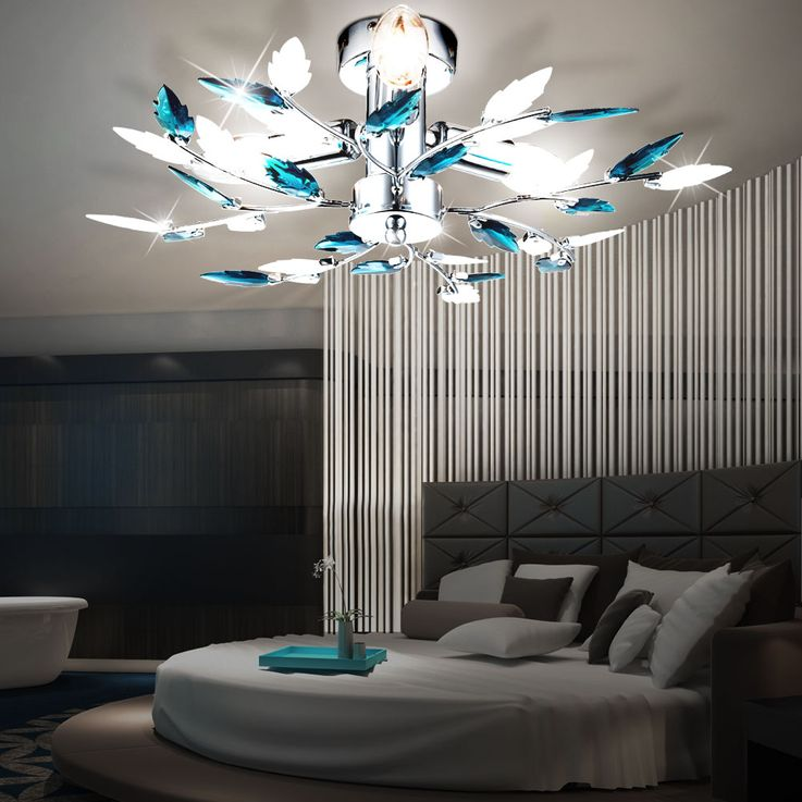 Design ceiling lamp living room lighting chrome branches lamp leaves Globo 63103-3 – Bild 4