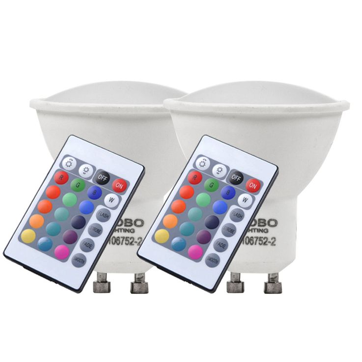 Set of 2 RGB LED 4 watt bulbs color change GU10 base lamp  Globo 106752-2 – Bild 1