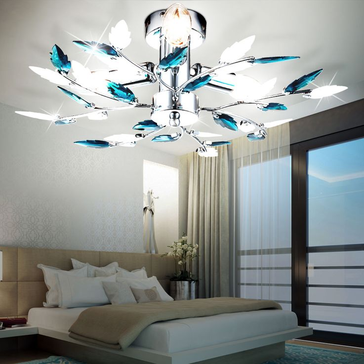RGB LED ceiling lamp in floral design – Bild 6