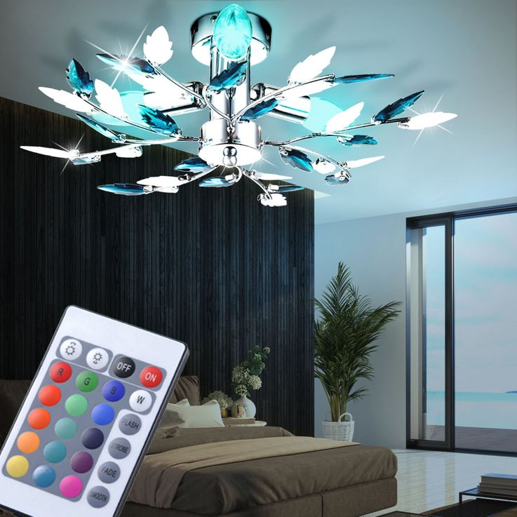 RGB LED ceiling lamp in floral design – Bild 3