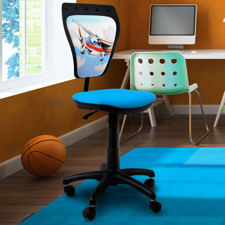 Design Jugend Dreh Stuhl Planes Schreib Tisch Flugzeug Sitz Rücken Lehne Mini Styl TS22 – Bild 2